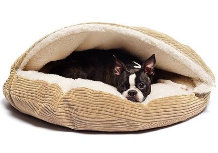 Cozy Corduroy And Sherpa Lined Pet Cave Bed Pets Dog Bed Dog Cat