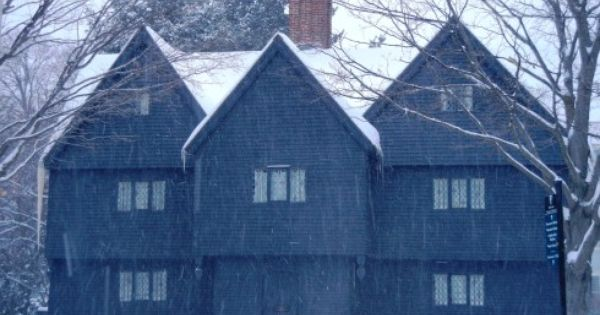 A White Robe Of Roofs Salem Witch House Witch House Historic New England