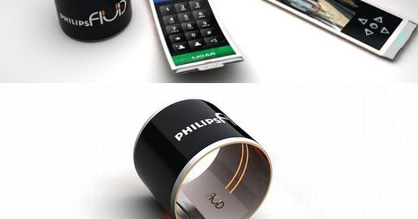Concept Philips phone that rolls into a watch*****