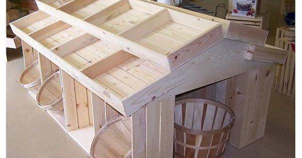 Farmers Market Idea Wooden Crate Floor Display Wood Crates Wood Display Produce Displays Craf Muebles Para Negocios Muebles Para Tienda Embalajes De Madera
