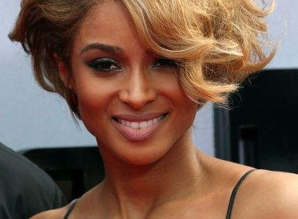 Ciara Short Hairstyles 2014 Elegant Wavy Curly Hair
