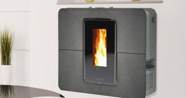 slimquadro 9 plein feu sur un po le granules ultra mince et ultra moderne poele stove. Black Bedroom Furniture Sets. Home Design Ideas