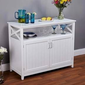 Southport Buffet Servers Buylateral White Beadboard Dining Furniture Beadboard