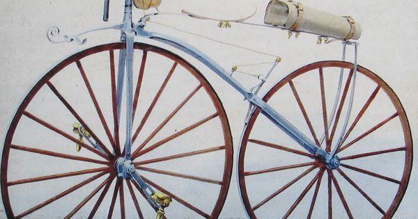 Uitvinding van de fiets geschiedenis pinterest