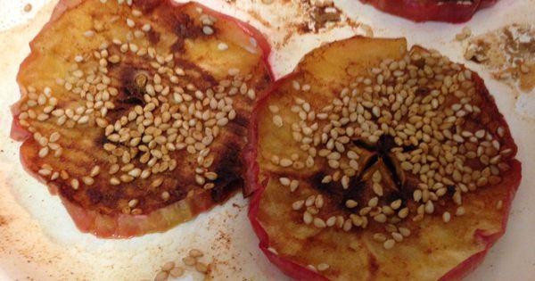 Baked apple slices, Apple slices and Baked apples on Pinterest