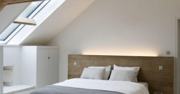 Slaapkamer inspiratie wit en hout combineert mooi voor een rustige slaapkamer interieur - Slaapkamer hout ...