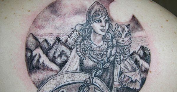 Goddess Freya Tattoo By Langelbleu Via Flickr