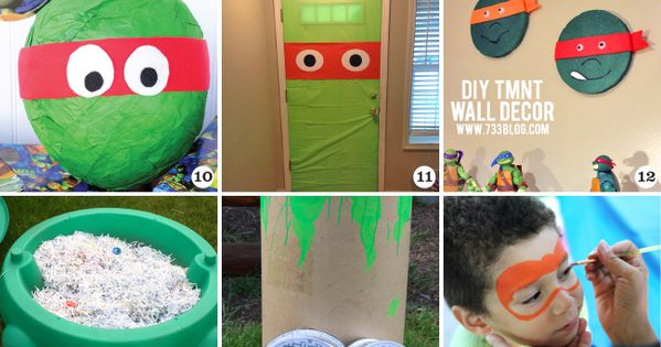 Awesome TMNT party decor, crafts, favors, and games! Tons of ideas!! TMNT