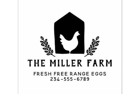 Rustic Botanical Chicken Logo Family Farm Egg Self Inking Stamp Zazzle Com In 2020 Self Inking Stamps Farm Eggs Chicken Logo