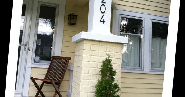 Bungalow style house numbers for Bungalow house numbers