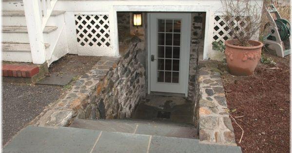 Diy walkout basement door walkway walkout basement for Walkout basement door options