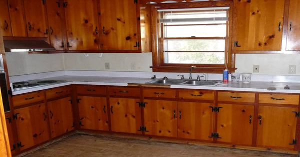 Painting knotty pine kitchen cabinets painting knotty pine kitchen cabinets knotty pine - Knotty pine cabinets makeover ...