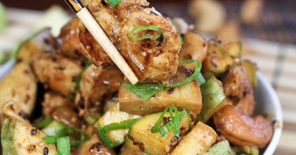 Check out Zucchini, Mushroom and Cashew Chicken. It's so ...