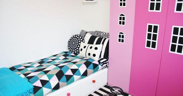 ... seng med fargerike knotter Barnerom Pinterest Rum, Ikea and DIY
