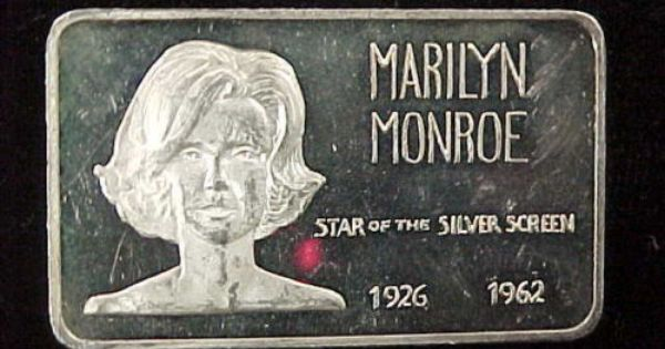 1 Troy Ounce 999 Fine Silver Art Bar Marilyn Monroe Star Of Silver Screen 1962 Ebay Silver Art Silver Bullion Ebay Auction