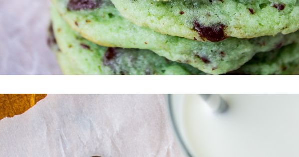 Mint Chocolate Chip Cookies // The Food Charlatan. Mint dark chocolate =