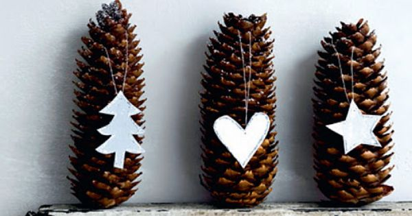 Add a little Christmas cheer all around the house Christmas pinecone decorations