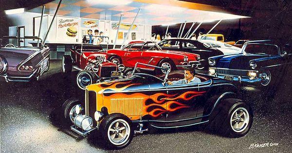 hot rod art prints 1932 ford hot rod roadster highboy