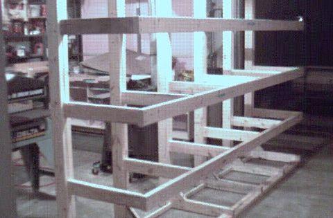 lumber rack (freestanding)   Wood Shop Ideas   Pinterest ...