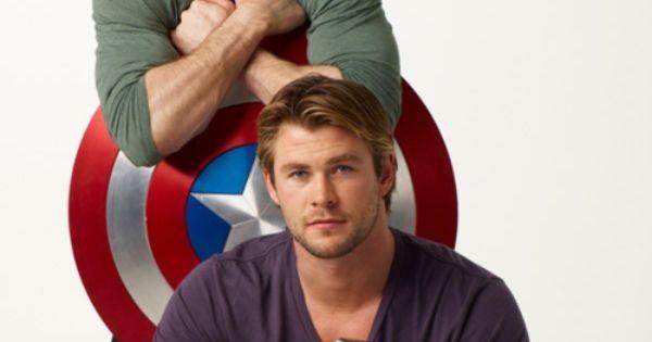 Chris Evans & Chris Hemsworth Captain America & Thor - Avengers...My kind