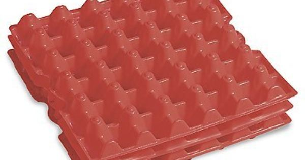 Red Plastic Egg Filler Flats 12 X 12 78 00 Egg Filler Flats Excellent For Holding Small Loose Parts In Factories Warehouses Home Kitchens Specialty Cookware Home