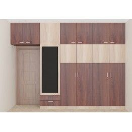 Vitali Wardrobe With Laminate Finish Wardrobe Door Designs Wardrobe Design Bedroom Bedroom Closet Design