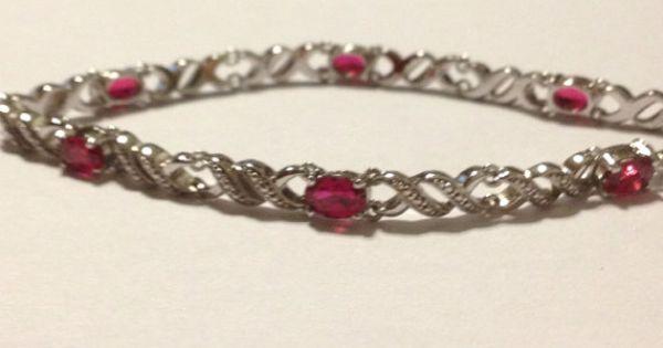 Ruby Sterling Bracelet 7 Quot Silver Kay Jewelers Rubies