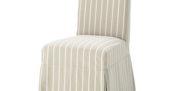 Housse longue de chaise rayures en margaux for Coudre housse fauteuil