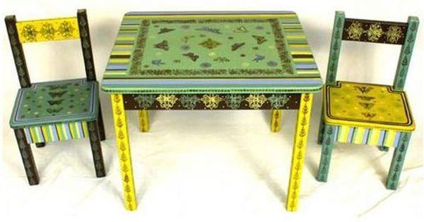 whimsical handpainted childrens furniture : Hand painted chairs, Tables and Paint furniture