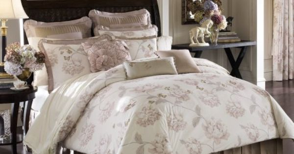 Lenox Butterfly Meadow Queen Comforter Set Taupe By Lenox