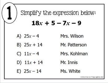 Combining Like Terms Math Lib Combining Like Terms Like Terms Simplifying Expressions