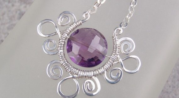 pretty wire wrapped pendant