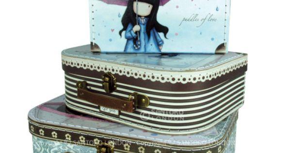 Mueroooo maletas de gorjuss wish list pinterest - Cajas de almacenaje decorativas ...