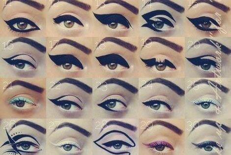 Eye Liner inspiration love cats eye look - you'll go crazy for
