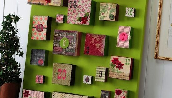 DIY advent. Lots of little gift boxes