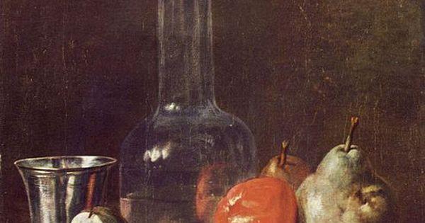 Chardin Nature Morte Avec Carafe Et Fruits 1750 Huile Sur