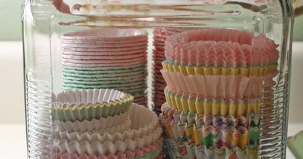 cupcake wrapper storage - I have something lik this, but mine are