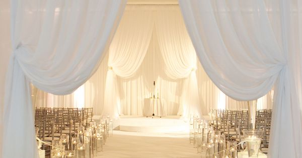 Elegant Drapery At Indoor Ceremony: How To Transform Your Wedding With Romantic Drapery