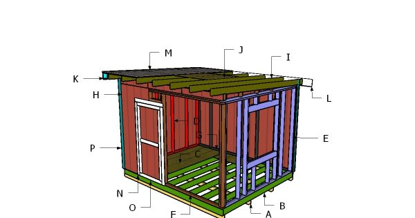 Building A 10x12 Flat Roof Shed Flat Roof Shed Shed Plans Building A Shed