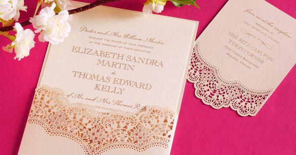 Wedding Invitations William Arthur: William Arthur Laser Cut Vintage Lace Wedding Invitation