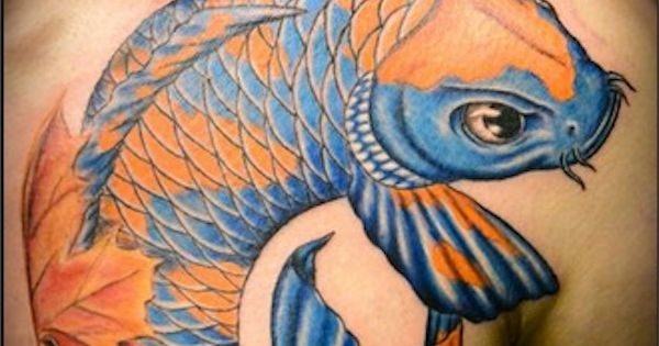 Blue and orange koi try other colors for your koi for Orange koi fish meaning