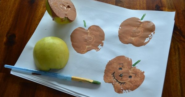 Apple Pumpkins: Great fall craft to do with the kiddos at the