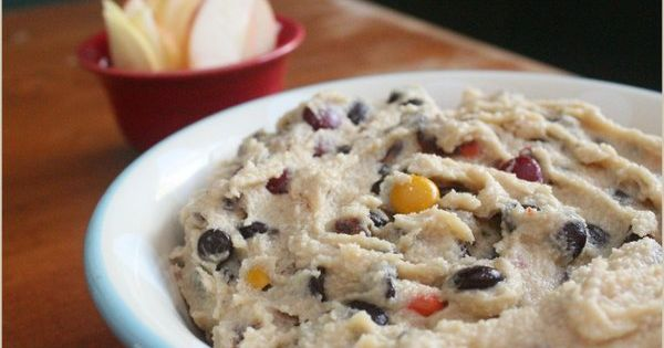 Monster Cookie Dough Dip - Paleo-ized - kid halloween party treat