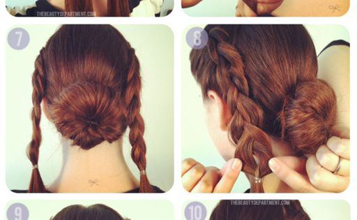 braided cross bun updo