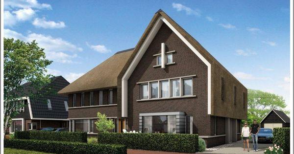 Rietdak 2 onder 1 kap dwarskap woonhuis tweekapper pinterest huizen architectuur en huisjes - Huis interieur architectuur ...
