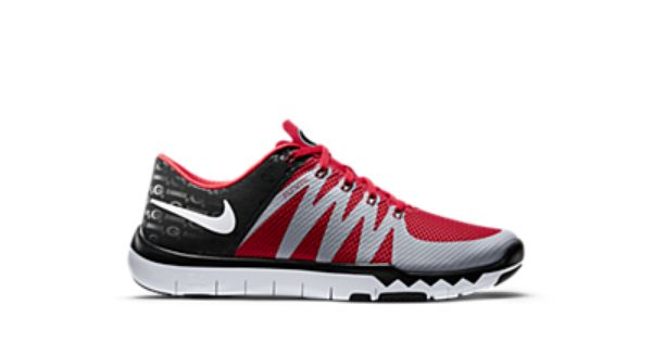 georgia bulldog nike shoes nike free trainer 5 0 v6 amp georgia men s training shoe 1110