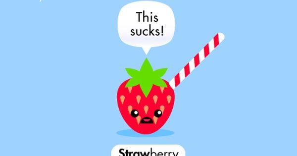 Cartoon strawberry joke in a kawaii style fruity cuties - Fruity cuties jokes ...