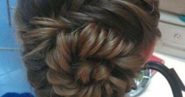 A beautiful fishtail bun. Hairstyle