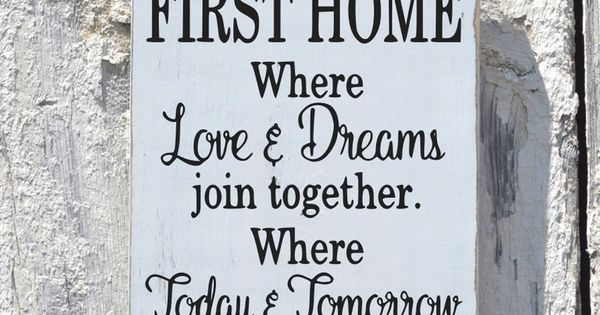 Our First Home House Wooden Sign Rustic Personalized