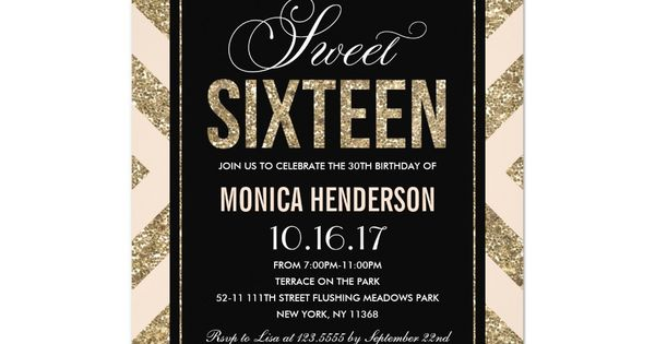 Glamorous Shimmer Sweet Sixteen Party Invitation Zazzle Com Sweet Sixteen Invitations Sweet Sixteen Parties Party Invitations